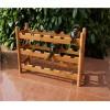 柏运达时尚创意竹制葡萄酒架自由叠加拆装式红酒架酒瓶架