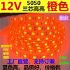 LED12/24V5050正白暖白冷白红光黄光绿光蓝光灯带