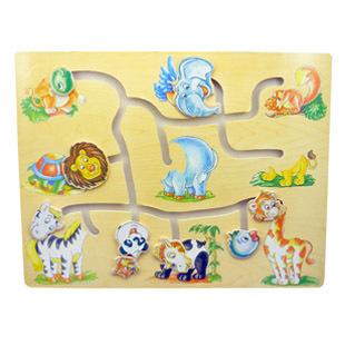 木制玩具动物找头益智迷宫启蒙玩具儿童益智玩具信息